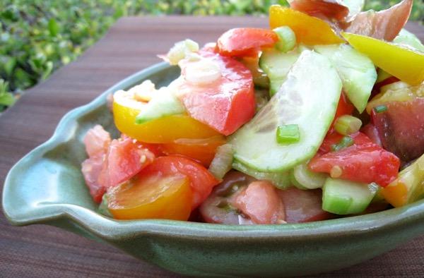 Heirloom Tomato and Cucumber Salad Recipe