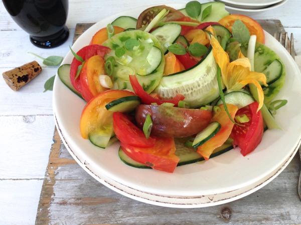 Heirloom Tomato Cucumber Salad Recipe