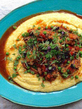 Rustic Chicken Stew & Creamy Polenta