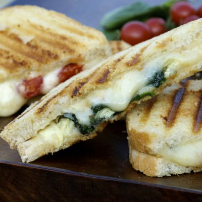 Tomato Basil & Fontina Grilled Cheese Recipe