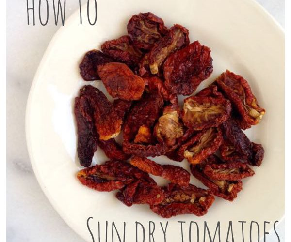 How To Sun Dry Tomatoes