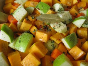 Diced Butternut Squash and Apples