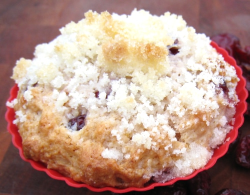 Cranberry Orange Ricotta Muffins