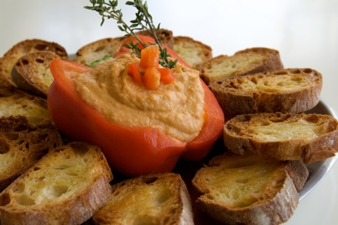 Post image for Roasted Pepper and Chickpea Dip Recipe