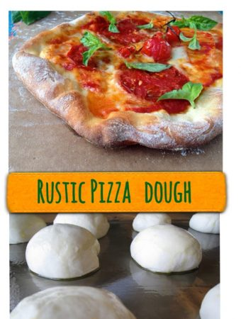 Rustic pizza dough