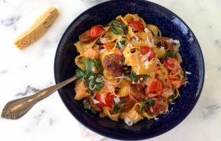 Spinach and Sausage Fettuccine Recipe