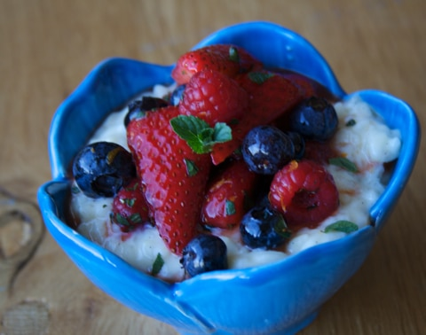 Italian Rice Pudding Risotto with Berries Recipe