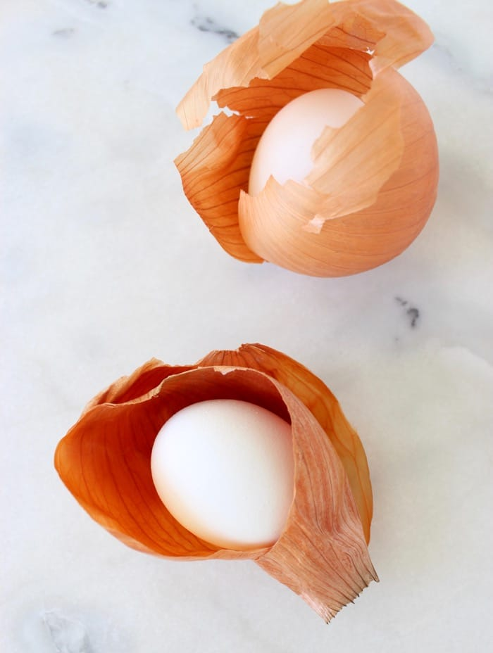 Eggs Wrapped in Yellow Onion Skins
