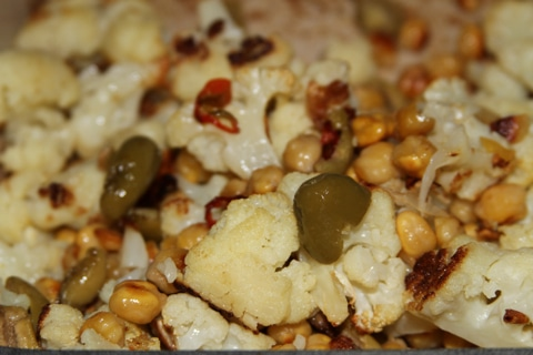 chickpeas roasted cauliflower chickpeas and olives roasted cauliflower ...