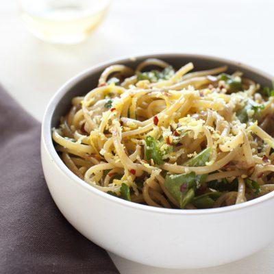 Florentina's Lemony Aglio Olio Pasta Recipe