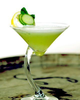 Refreshing Cucumber Mint Martini