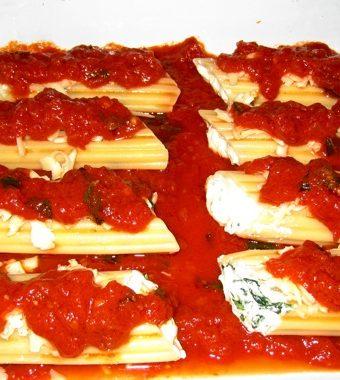 Ricotta and Spinach Manicotti
