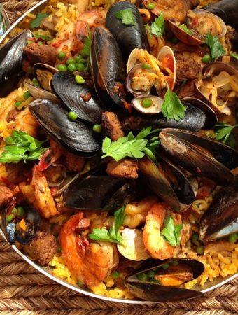 Paella style Risotto