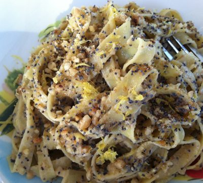 Walnut and Poppy Pasta Recipe