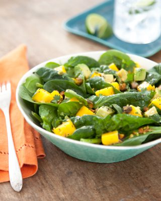 Latin D'Lite – Mango, Avocado, and Spinach Salad with Poppy Seed Dressing Recipe