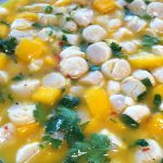 Dish of Scallop Mango Ceviche