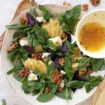 Basil Pear Salad Recipe with Lemon Honey Dressing