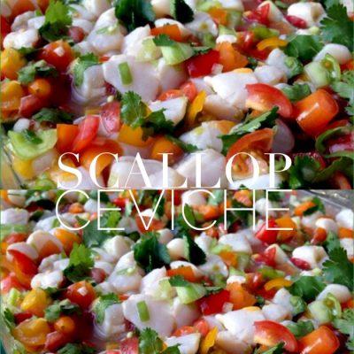 Tomato Scallop Ceviche Recipe