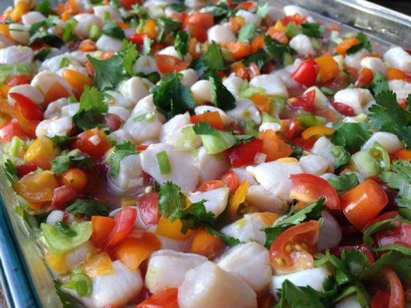 """Grilled Scallop """"Ceviche"""" Recipe — Dishmaps"""