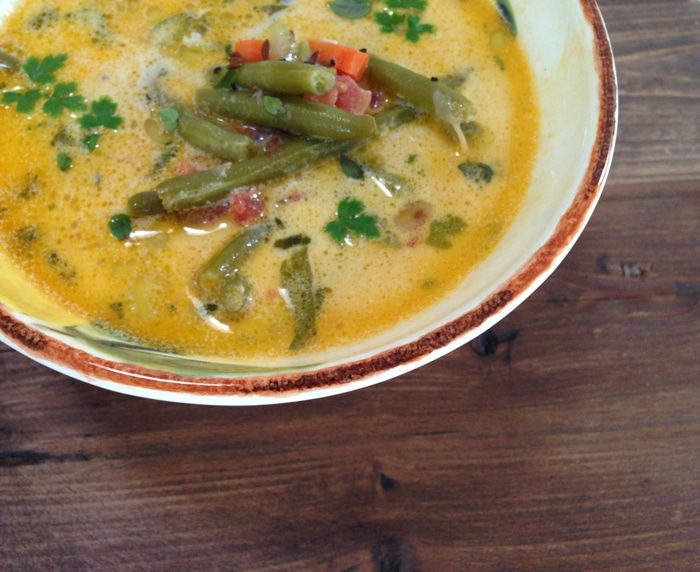 Roasted Garlic & Green Bean Soup Recipe - Ciao Florentina
