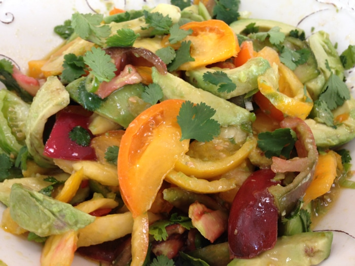 Heirloom Tomato & Avocado Salad Recipe - Ciao Florentina