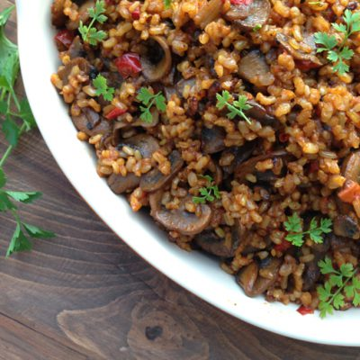 Mushroom Brown Rice Pilaf Recipe