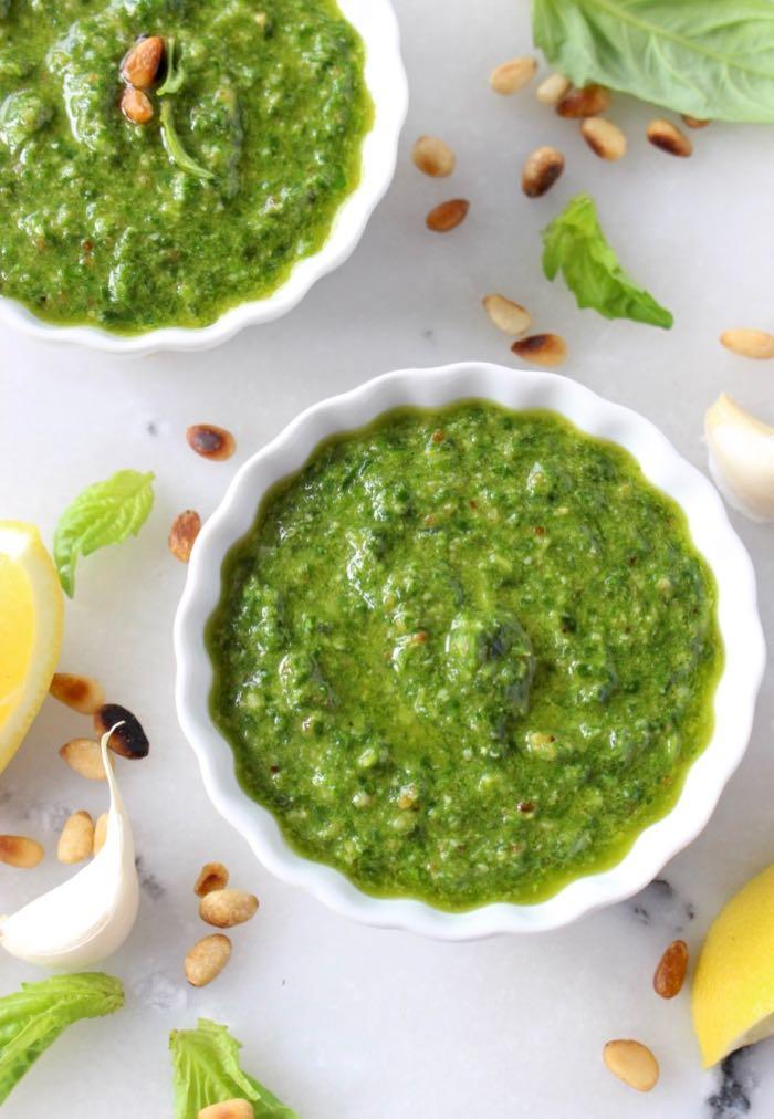 Basil Pine Nut Pesto Sauce