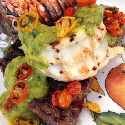 Mango Chimichurri Surf Turf Recipe