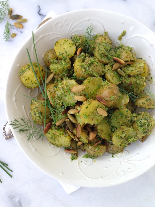 Chive Pesto Potato Salad Recipe