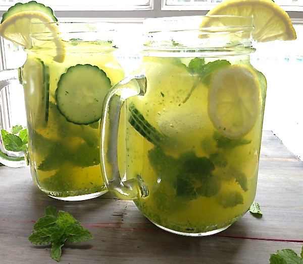 Two Jars of Cucumber Lemonade