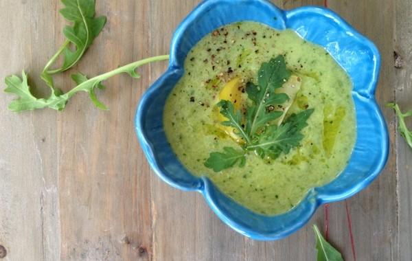 Green Zebra Gazpacho bowl