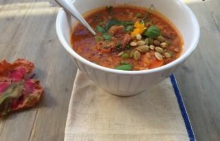 lentil Roasted Pepper soup