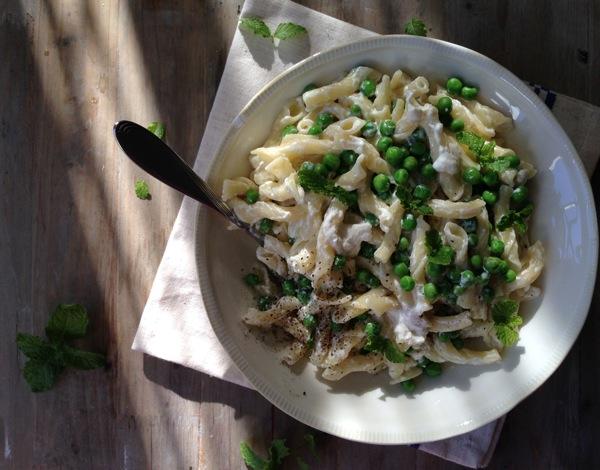 Ricotta Green Peas Pasta Recipe