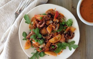 Squid Panzanella Salad