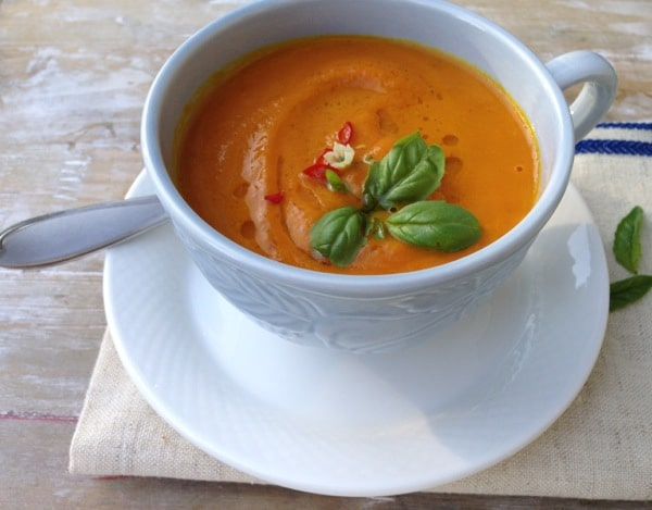 Healthy Carrot Soup Recipe with Orange & Rum