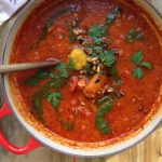 Rustic Tomato Roasted Pepper Soup