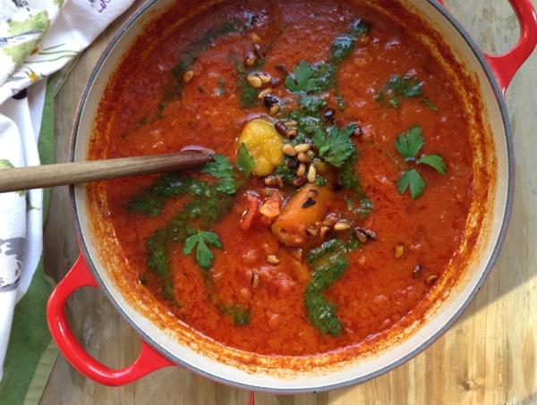 Tomato Roasted Pepper Soup Recipe - Ciao Florentina