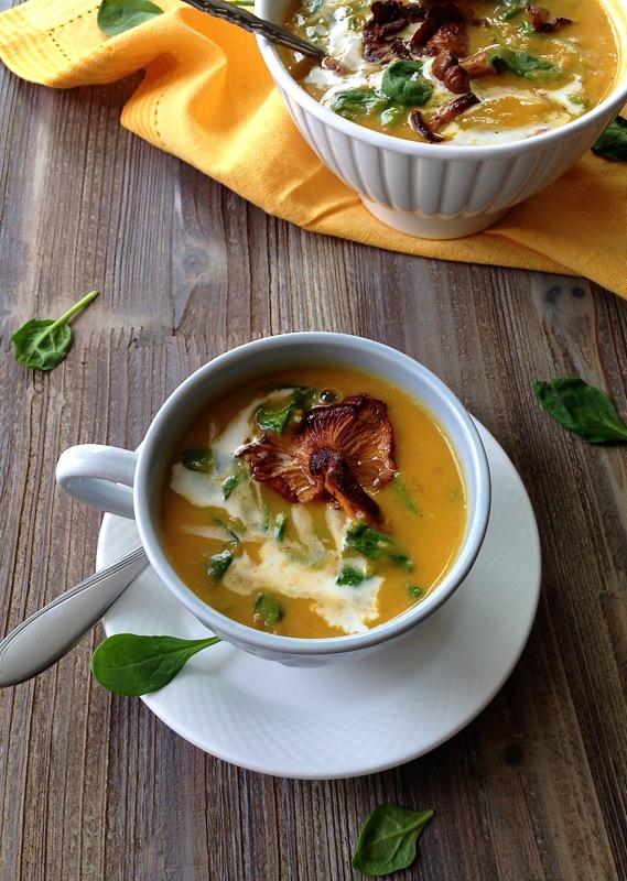 chanterelle mushroom soup ciaoflorentina