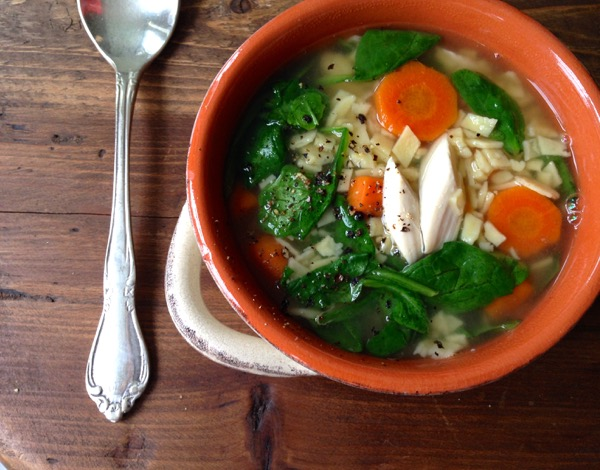 Florentine Chicken Noodle Soup