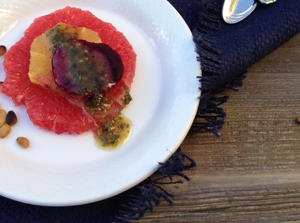 Citrus Beet Salad Lemon Balm Pesto