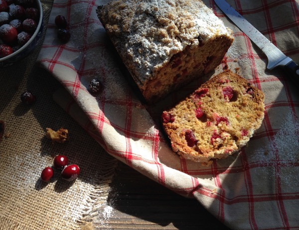 Easy Cranberry Bread Recipe with Ricotta and Olive Oil