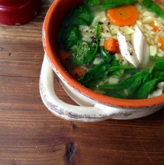 Florentine Chicken Noodle Soup Recipe