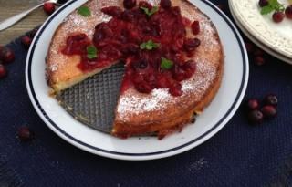 Orange Cranberry Ricotta Cake recipe