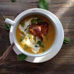 chanterelle butternut squash soup