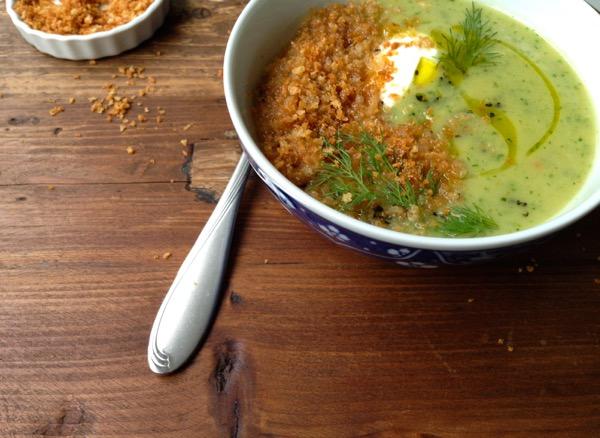 Celery Root Arugula Soup Recipe
