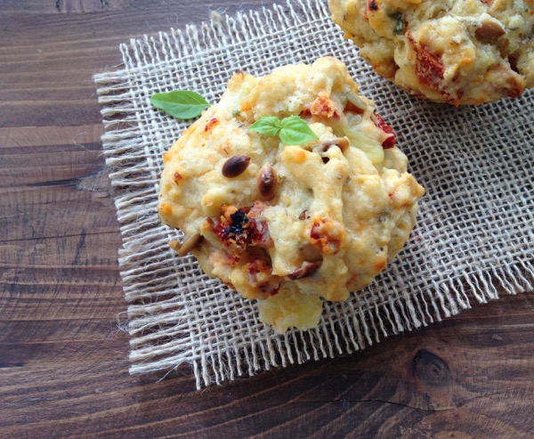 Sun Dried Tomato Goat Cheese Muffins