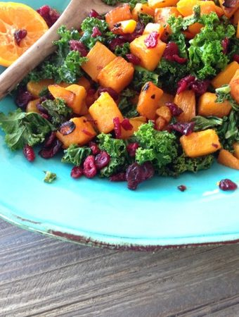 Kale Butternut squash Winter Salad Recipe