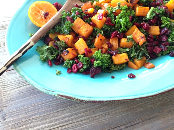 Kale Butternut Squash Winter Salad Recipe • CiaoFlorentina
