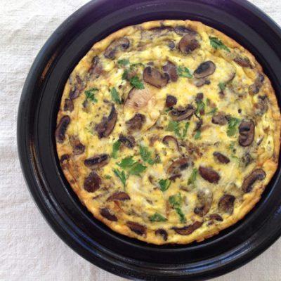 Mushroom Frittata Recipe + $300 Mauviel Giveaway
