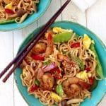 Shrimp Teriyaki Udon Stir-Fry Recipe